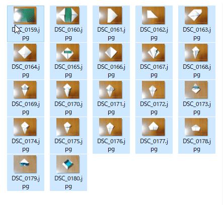 ファイル名一括変更手順1